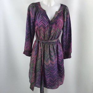 Shoshanna Purple Long Sleeve Dress Size 8